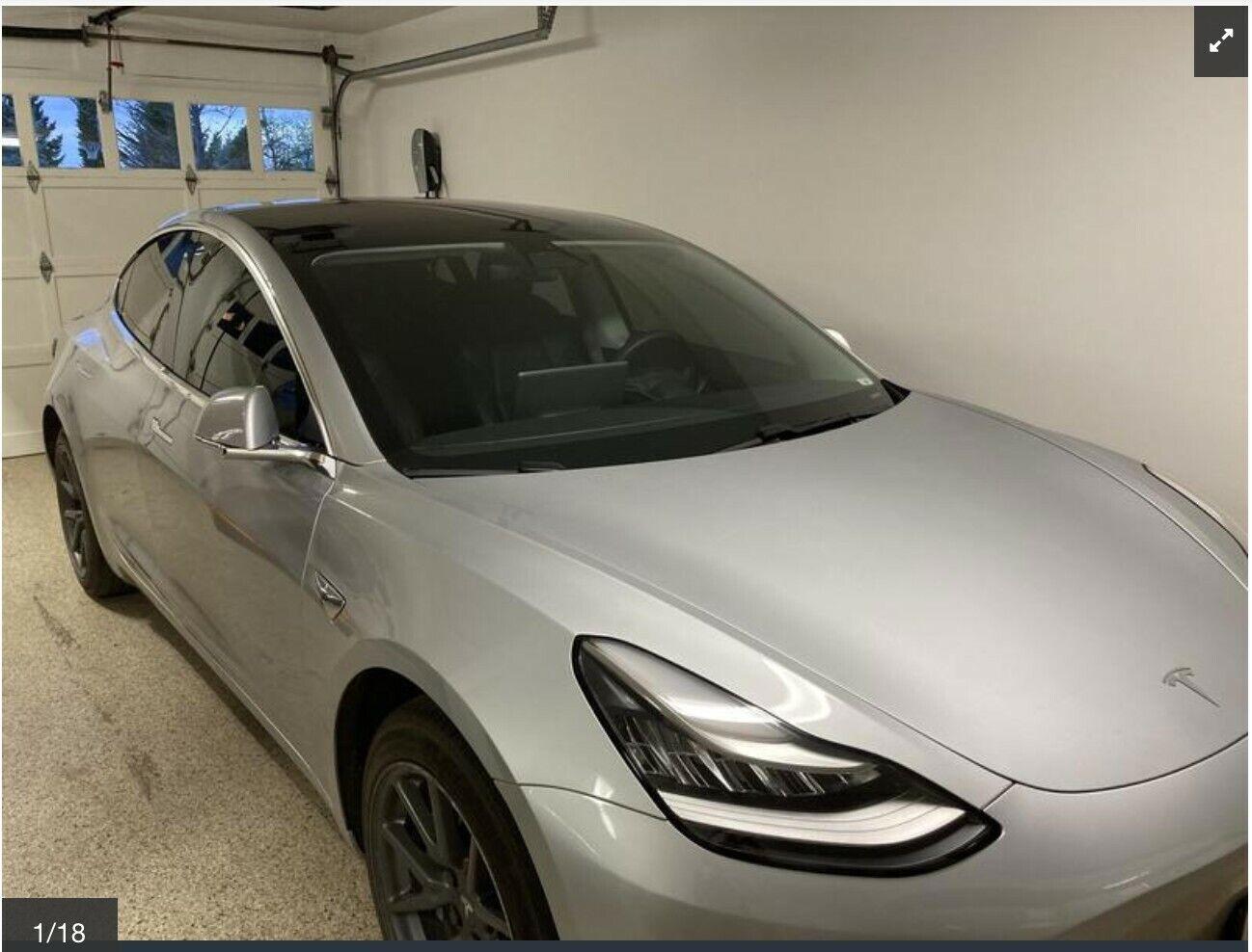 2018 Silver Tesla Model 3 Performance Awd