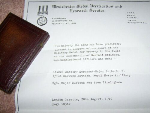 BRITISH MEDAL FOR BRAVERY, BOXED, NAMED WITH LETTER, BRITISH ISSUE *NICE*
