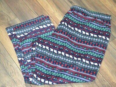 Family Pjs For Christmas (Jammies For Families Fleece Pajama Bottoms Christmas Trees Polar Bears Stripe)