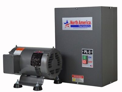 Pl-3 Pro-line 3hp Rotary Phase Converter - Built-in Starter Made In Usa