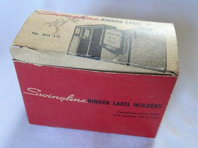 Vintage Swingline Binder Label Holders - Open Box - Slh 1-12 Long Island City 1
