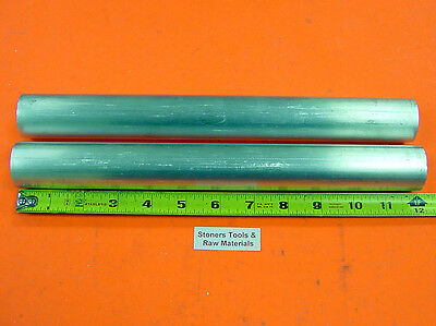 2 Pieces 1 6061 Aluminum Round Rod 12 Long T6511 Solid 1.00od Lathe Bar Stock