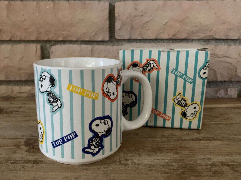 Peanuts Top Pop Stoneware Mug #9791 New With Box