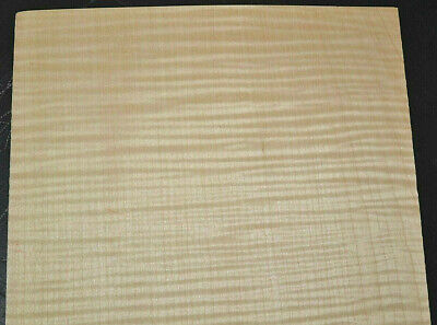 Pair Of Curly Maple Raw Wood Veneer Sheets 10 X 22 Inches 142nd   8709-46