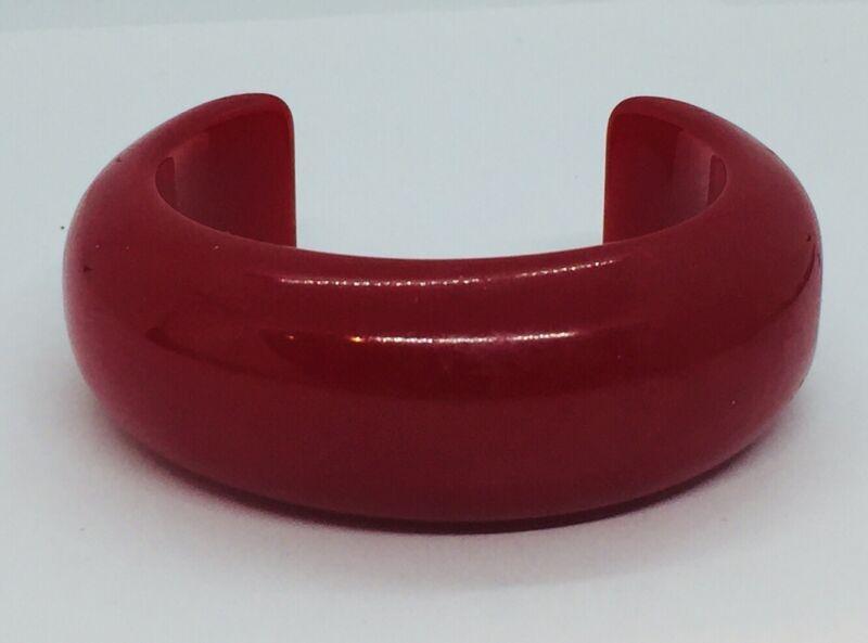 Antique Cherry Red Bakelite Cuff Bracelet