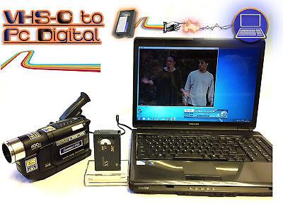 Small VHS-C Player / Recorder Kit ~ Convert VHS-C Tape To DVD PC + CAMCORDER (Vhs To Dvd Converter Player)