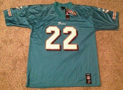 Mens NFL Replica Jersey REGGIE BUSH #22 Miami Dolphins Throwback SIZE XL -