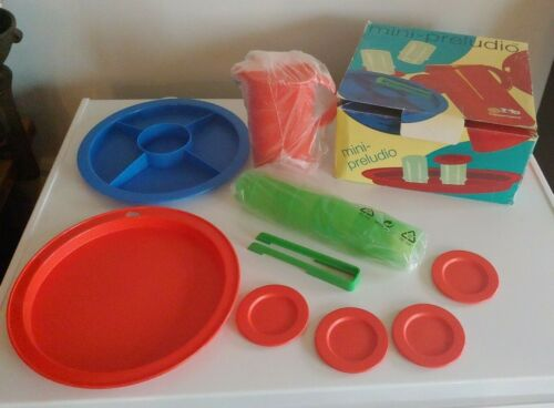 Vintage TUPPERWARE TOY KId Mini Dish Set Serving Plate Pitcher More Pretend Play