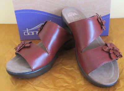 NIB~ Dansko Womens Donna Burnished Full Grain Clog Slipper Shoes 36 US 6 ~Brown