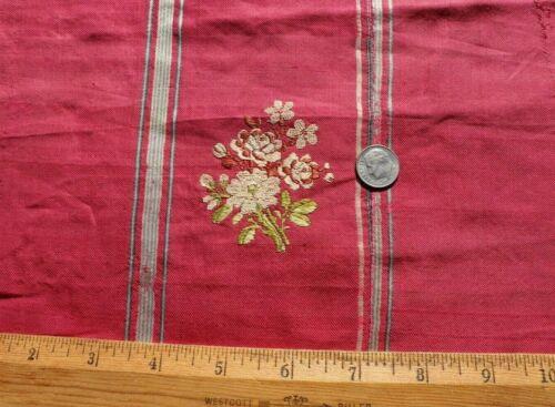 "Antique French 18thC Silk Floral Brocade Fabric c.1780~L-42"" X  W-10"""