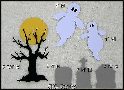 Die Cut Halloween Cemetary Tombstone Ghost Tree Scrapbook Page Paper Piecing CKS - Halloween Cemetary