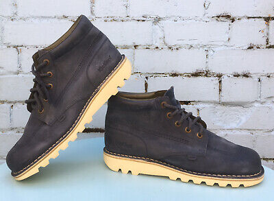 KICKERS QUALITY CASUAL NUBUCK LEATHER ANKLE BOOTS SIZE-45 (10.5 Uk) MENS