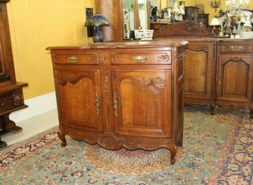 French Antique Louis XV Oak Sideboard / Buffet / Server