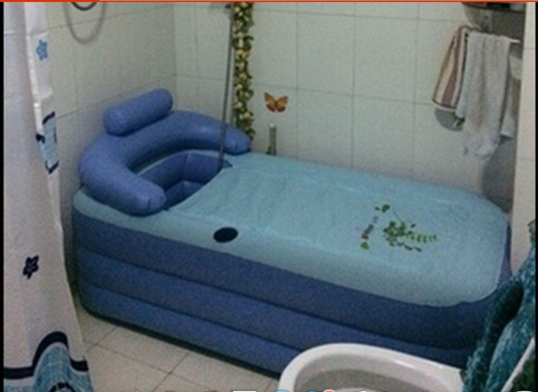 OUTDOOR INFLATABLE ADULT Bath Bathtub Portable Foldable Bathroom ...