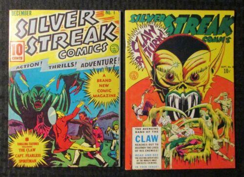 1970s SILVER STREAK COMICS #1 & #6 Reprint FN/FVF The Claw / Spiritman