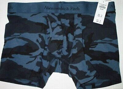 NEW Abercrombie & Fitch Men's Blue Camo Camouflage Boxer Briefs - Medium M