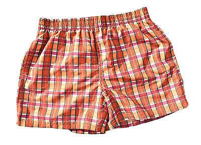 JULIPET Herren Shorts Schwimmhose Badeboxer Freizeitshort Boxershorts Orange ()