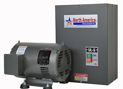 Ul-5 Pro-line 5hp Ul Listed Rotary Phase Converter - New - Made In Usa