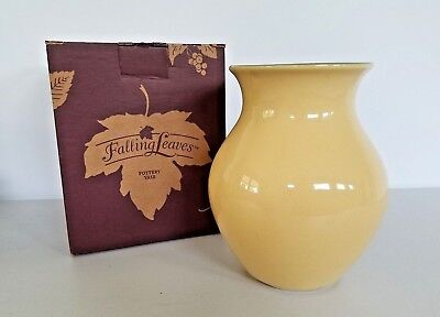 Longaberger Pottery Fall Festival Decorative Vase, Falling Leaves, NIB - Fall Festival Decorations