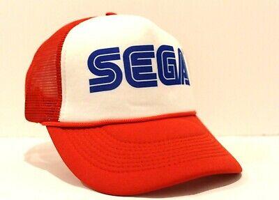 New SEGA Truckers Hat Cosplay Genesis Video Game 80s Vintage Retro Style Look