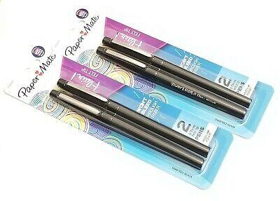 2 Packs 4 Pens Paper Mate Flair Medium Point Felt Tip Pens Black