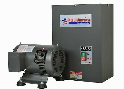 Sb-5 Digital Rotary Phase Converter - Smart-boost 5hp Usa Made