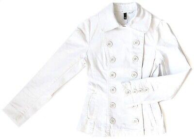 HM Jeans Jacke tailliert / sportlicher Blazer Damen WEISS WHITE Größe XS / 34 gebraucht kaufen  Stuttgart