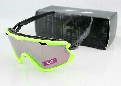 OAKLEY WIND JACKET 2.0 Neon Retina PRIZM Snow Black Iridium Sunglasses OO7072 06