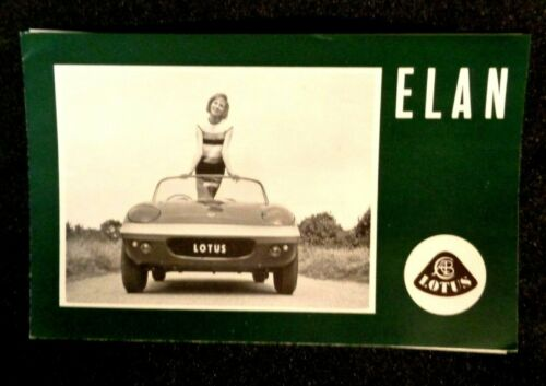 Vintage original LOTUS ELAN Sales Ad Brochure with inserts sports car auto