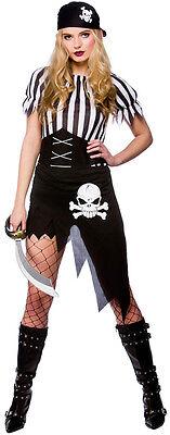 Schiffbrüchige Piratenbraut Kostüm NEU - Damen Karneval Fasching Verkleidung - Schiffbrüchiger Pirat Kostüm