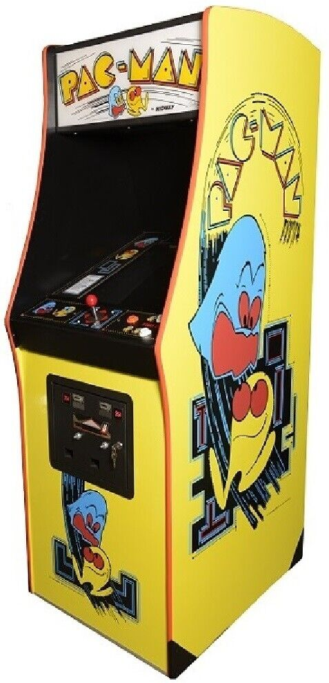 Photo PAC-MAN ARCADE MACHINE by MIDWAY (Excellent Condition) *RARE*