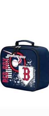 Boston Red Sox Lunch Box (Boston Red Sox MLB 10.5 x 8.5 Insulated Stacked Zipper Lunchbox Bag Cooler )