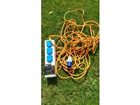 Camping power lead