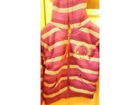 Girls purple strips jacket new size 6-7