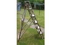"Vintage Original Wooden Step Ladders ""THE HATHERLEY Lattistep"""