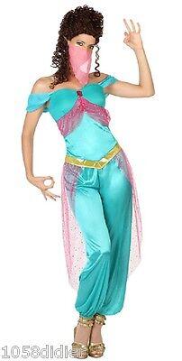 Kostüm Frau Prinzessin Jasmine Blau XL 44 Tänzerin - Arabische Frau Kostüm
