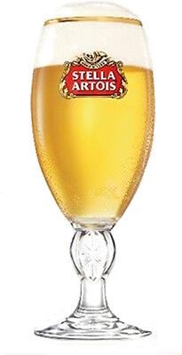 Personalised Engraved Branded 1 pint Stella Artois Chalice Beer Glass + Gift Box