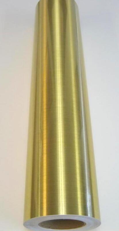 "Metallic Brushed Gold Plotter Sign Vinyl 24"" x 10 ft"