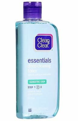 Clean & Clear Essentials Deep Cleaning Toner, Sensitive Skin