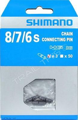3-Pack Genuine Shimano 6 / 7 / 8-Speed Chain Connecting Pins fits CN-HG40 & HG71