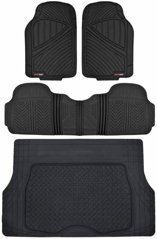 Performance All Weather Rubber Car Floor Mats with Cargo Liner