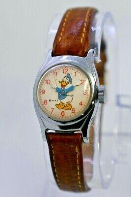 Vintage Women's/Kid's TIMEX Walt Disney - Donald Duck Mechanical Watch, Silver