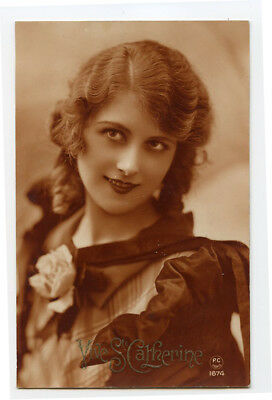 1920s Glamour Glamor BEAUTIFUL LADY French decco deco photo postcard