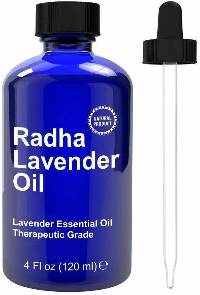 Radha Beauty Lavender Essential Oil 100% Natural, 4 oz.
