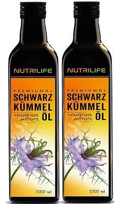 Nutrilife Schwarzkümmelöl ägyptisch - gefiltert & kaltgepresst 2000ml