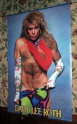 2 David Lee Roth Van Halen 1986 Vintage POSTERS New Condition