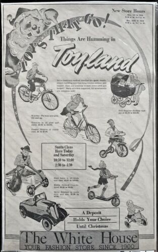 1939 Large Toy Store Advertisement - Original - So Cool !!!