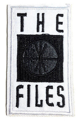 "X-Files Rectangular Logo 3"" Tall Embroidered Patch- USA Mailed (XFPA-02)"