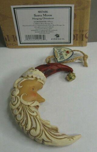 """Jim Shore Heartwood Creek, """"Santa Moon"""" Hanging Ornament #4017606 *No Reserve*"""