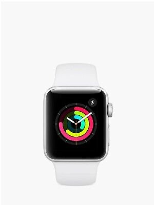 Apple Watch Series 3 GPS 38mm Silver Aluminium Case with Sport Band White